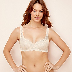 Triumph - Cream lace 'Amourette 300' underwired padded balcony bra