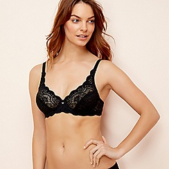 Triumph - Black lace 'Amourette 300' underwired non-padded full cup bra