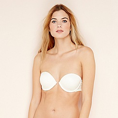 Debenhams - Ivory underwired padded strapless bra