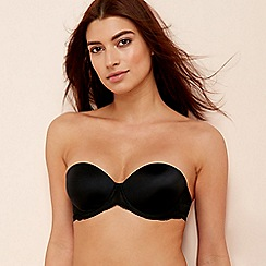 The Collection - Black Floral Lace gel push up strapless bra
