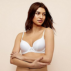 The Collection - White lace cradle underwired padded t-shirt bra