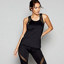 Shock Absorber - Black activewear sports tank top