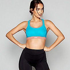 Shock Absorber - Blue non-wired non-padded sports bra
