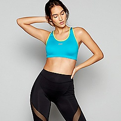 Shock Absorber - Turquoise active crop top