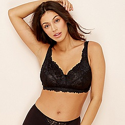 The Collection - Black Diana Lily lace bra