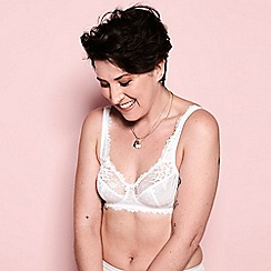 The Collection - White 'Diana-Lily' lace bra