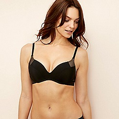 Wonderbra - Black microfibre 'Ultimate' non-wired padded push-up t-shirt bra