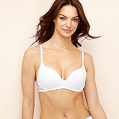Wonderbra - White microfibre 'Ultimate' non-wired padded push-up t-shirt bra