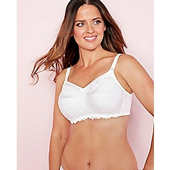 The Collection - White lace non-padded non-wired post surgery mastectomy bra