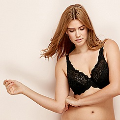 Playtex - Black 'Flower Elegance' full cup bra