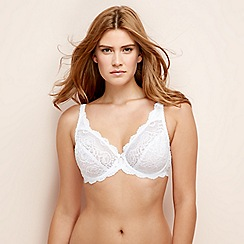 Playtex - White lace underwired non-padded full cup bra
