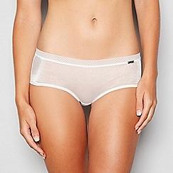 Gossard - White sheer mesh short knickers