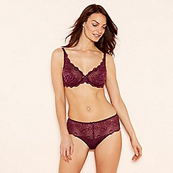 Playtex - Wine red floral lace underwired non-padded bra