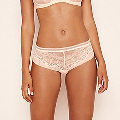 Triumph - Pale peach lace mesh 'Beauty-Ful Darling' bikini knickers