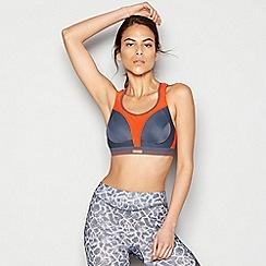 Shock Absorber - Dark grey 'Ultimate Run' non-wired non-padded sports bra