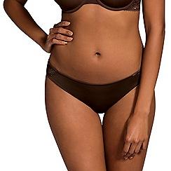 DORINA - Chocolate lace 'Isabelle' bikini knickers