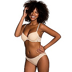 DORINA - Natural 'Isabelle' lace trimmed underwired padded t-shirt bra