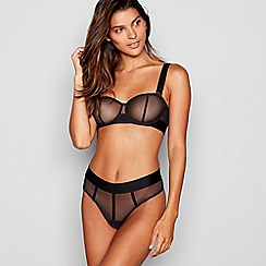 DKNY - Black 'Sheers' convertible strapless underwired bra