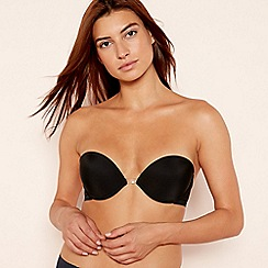 Wonderbra - Black 'Ultimate Multiway' satin underwired padded push up bra