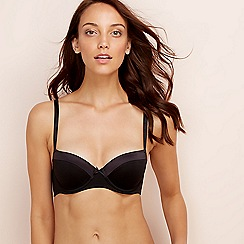 Debenhams - 2 pack black and white underwired padded balcony bras