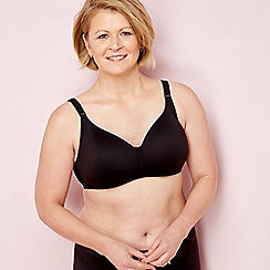 The Collection post-surgery - Black non-wired non-padded mastectomy t-shirt bra