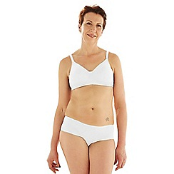 Spirit Post Surgery - White non-wired non-padded mastectomy t-shirt bra