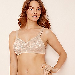 Triumph - Natural lace 'Delicate Doreen' non-wired non-padded full cup bra