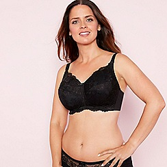 The Collection - Black lace non-wired lightly padded post surgery mastectomy bra