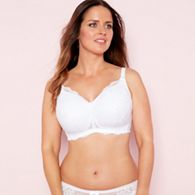 03fad7a7be The Collection - White lace non-wired lightly padded post surgery  mastectomy bra