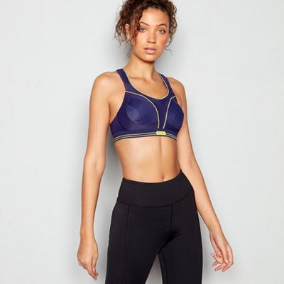 9fd30b540d Shock Absorber Blue  Ultimate Run  Non-Wired Non-Padded Sports Bra ...