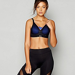 Shock Absorber - Black active shaped support sports Bra