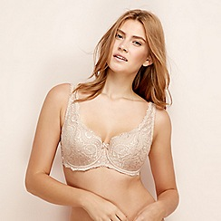 Playtex - Natural lace underwired padded balcony bra