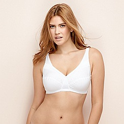 Playtex - White lace non-wired non-padded full cup bra