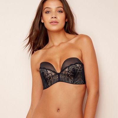 3df0c8d795 Wonderbra Black  Refined Glamour  strapless bra