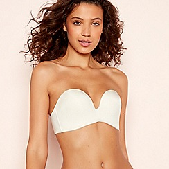 Wonderbra - Ivory 'Ultimate Strapless' Underwired Padded Strapless Push-up Bra