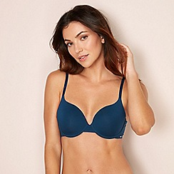 The Collection - Blue invisible underwired padded t-shirt bra