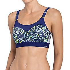 Triumph - Blue 'Tri-Action Control Lite' underwired moulded cups sports bra