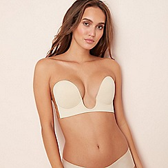 Perfection Beauty - Natural 'U Shape' non-wired moulded plunge backless stick-on bra