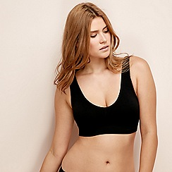 Debenhams - Black seamless non-wired shaper padded full cup bra