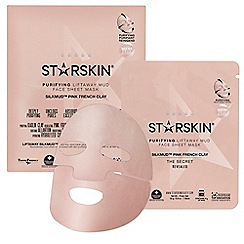 STARSKIN - 'Silkmud™ Pink French Clay' purifying liftaway mud face sheet mask 16g
