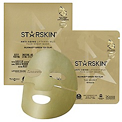 STARSKIN - 'Silkmud™ Green Tea Clay'  anti ageing liftaway mud face sheet mask 16g