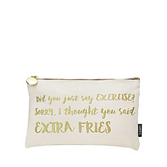 Nails Inc. - Cosmetic Bag - Did you say exercise? Sorry, I though you said extra fries