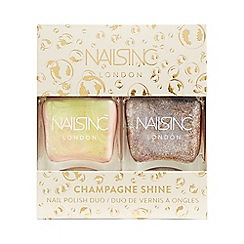 Nails Inc. - 'Champagne Shine' nail polish duo