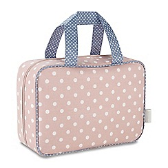 Victoria Green - 'Southwold Blush' hanging traveller wash bag