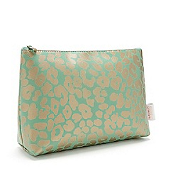 Victoria Green - 'Leopard Jade' Large Makeup Bag