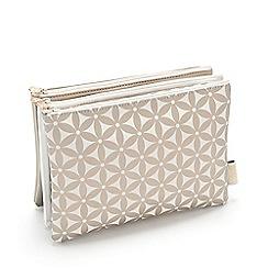 Victoria Green - 3 in 1 Gold Amy Starflower Makeup Wallet