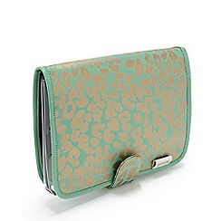 Victoria Green - 'Kate Leopard Jade' Beauty Clutch