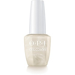 OPI - 'Snow Glad I Met You' gel lacquer 15ml