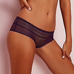 The Collection - Dark purple mix & match lace shorts