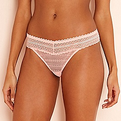 The Collection - Peach lace thong